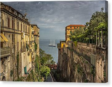 Italian Shipping Route Canvas Print by Chris Fletcher