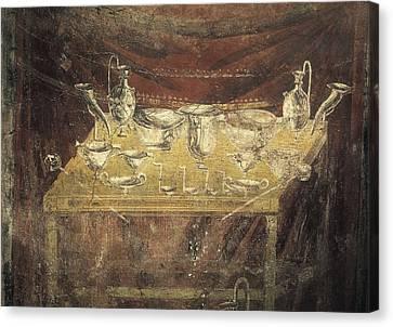 Italy. Pompeii. Vesuvius Gate. Tomb Canvas Print by Everett