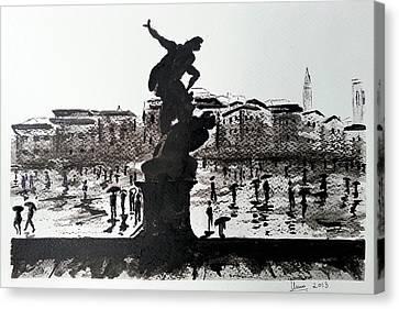 Italy Series 9 Canvas Print by Uma Krishnamoorthy