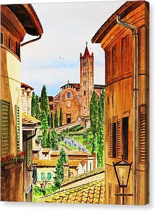 Italy Siena Canvas Print by Irina Sztukowski