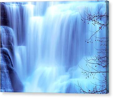 Ithaca Water Falls New York  Canvas Print by Paul Ge