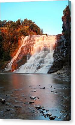 Ithaca Waterfalls New York Canvas Print by Paul Ge