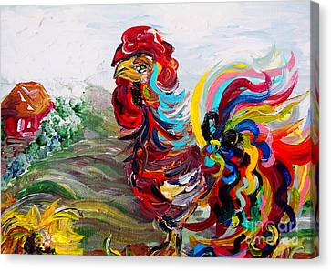It's A Cockadoodle Do Morning Canvas Print by Eloise Schneider