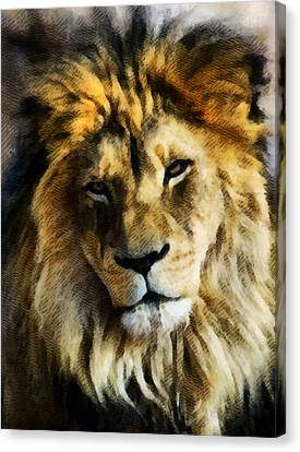 Its Good To Be King Portrait Illustration Canvas Print by Angelina Vick