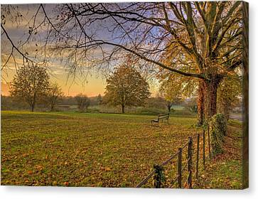 Ivinghoe Autumn Village Sunset Canvas Print by David Dwight