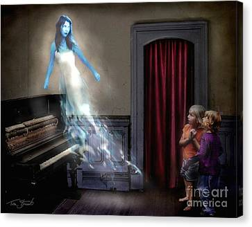 Ivory Ghost Canvas Print by Tom Straub