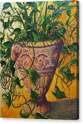 Ivy And Other Greens Canvas Print by Paris Wyatt Llanso