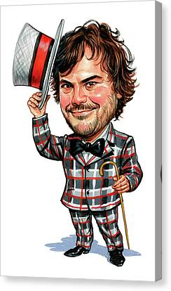 Jack Black Canvas Print by Art