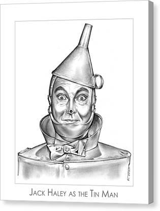 Jack Haley As The Tin Man Canvas Print by Greg Joens