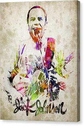 Jack Johnson Portrait Canvas Print by Aged Pixel
