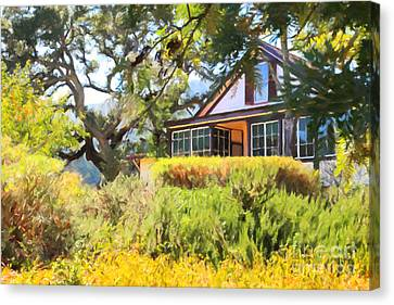 Jack London Countryside Cottage And Garden 5d24570 Canvas Print by Wingsdomain Art and Photography