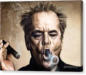 Jack Nicholson Canvas Print by Andrzej Szczerski