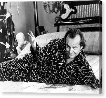 Jack Nicholson In The Witches Of Eastwick  Canvas Print by Silver Screen