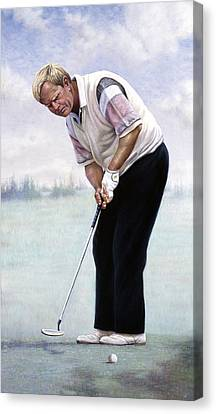 Jack Nicklaus Canvas Print by Gregory Perillo