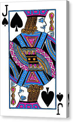 Jack Of Spades - V3 Canvas Print by Wingsdomain Art and Photography