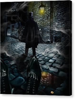 Jack The Ripper Canvas Print by Alessandro Della Pietra