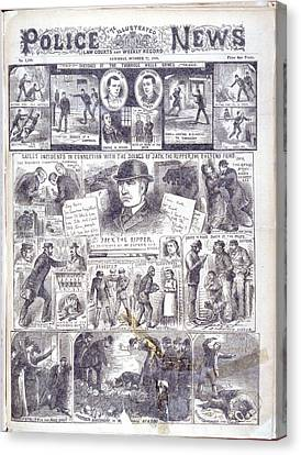 Jack The Ripper Canvas Print by British Library