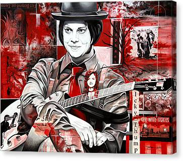 Jack White Canvas Print by Joshua Morton