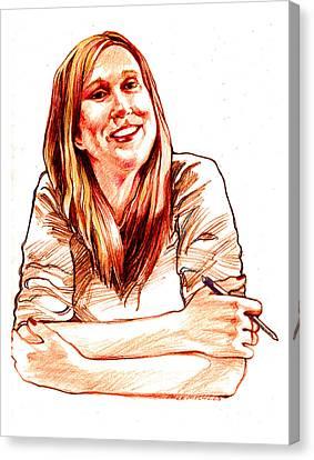 Jackie Lebel Canvas Print by Dale Michels