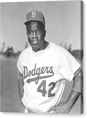 Jackie Robinson Poster Canvas Print by Gianfranco Weiss