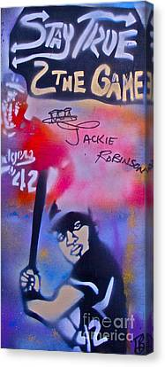 Jackie Robinson Red Canvas Print by Tony B Conscious