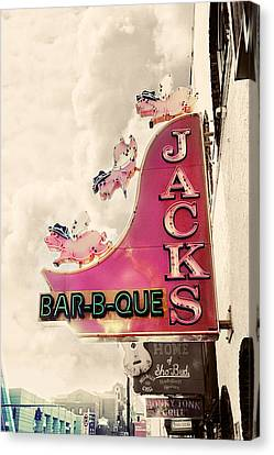 Jacks Bbq Canvas Print by Amy Tyler