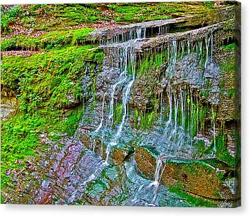 Jackson Falls At Mile 405 Natchez Trace Parkway-tennessee Canvas Print by Ruth Hager
