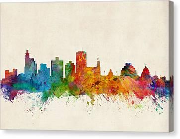 Jackson Mississippi Skyline Canvas Print by Michael Tompsett