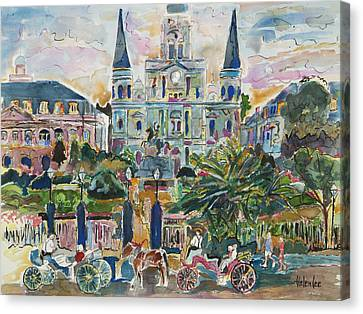 Jackson Square Canvas Print by Helen Lee