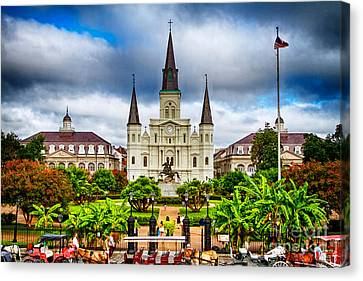 Jackson Square New Orleans Canvas Print by Jarrod Erbe