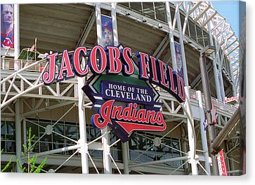 Jacobs Field - Cleveland Indians Canvas Print by Frank Romeo