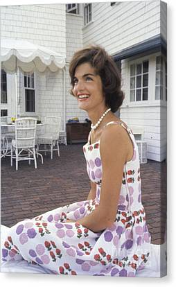 Jacqueline Kennedy At Hyannis Port 1959 Canvas Print by The Harrington Collection