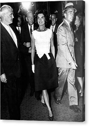 Jacqueline Kennedy Doesn't Need A Red Carpet Canvas Print by Retro Images Archive