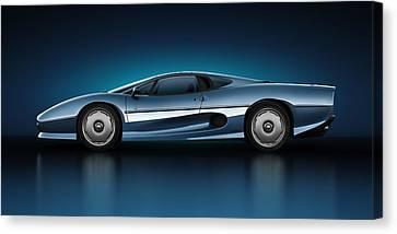 Jaguar Xj220 - Azure Canvas Print by Marc Orphanos