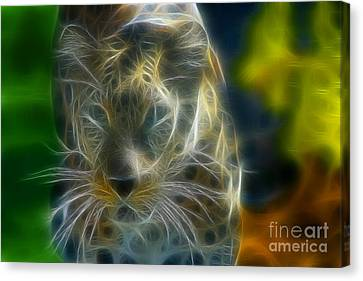 Jaguar208-fractal Canvas Print by Gary Gingrich Galleries