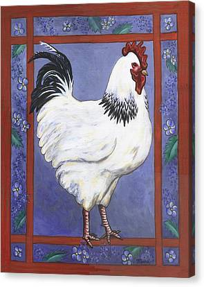 Jake The Rooster Canvas Print by Linda Mears