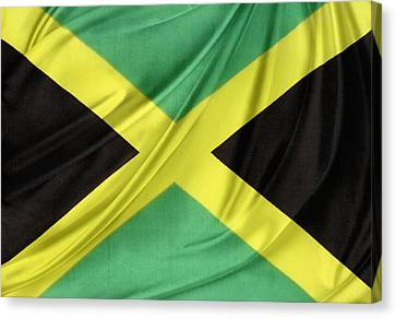 Jamaican Flag Canvas Print by Les Cunliffe