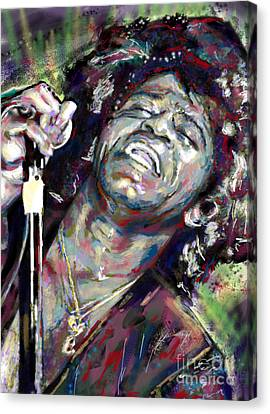 James Brown Painting Canvas Print by Ryan Rock Artist
