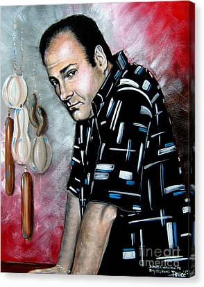 James Gandolfini As Tony Soprano Canvas Print by Patrice Torrillo