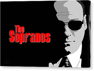 James Gandolfini As Tony Soprano Canvas Print by Paul Dunkel