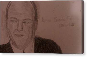 James Gandolfini Canvas Print by Christopher Kyriss