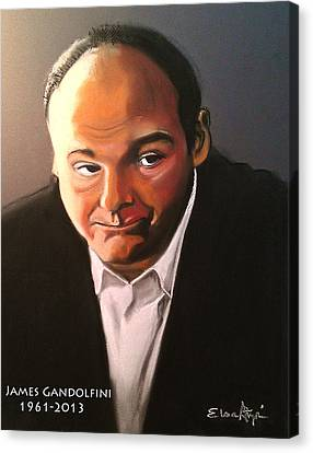 James Gandolfini Canvas Print by Elsa Atzori
