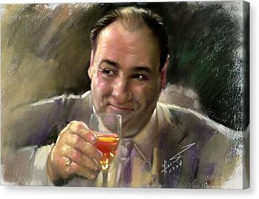 James Gandolfini Canvas Print by Viola El