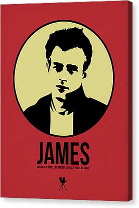 James Poster 2 Canvas Print by Naxart Studio