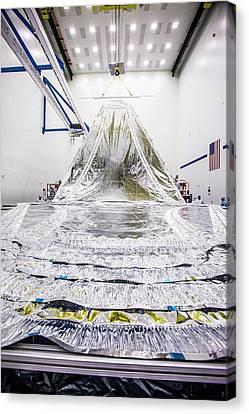 James Webb Space Telescope Sunshield Canvas Print by Northrop Grumman/nasa