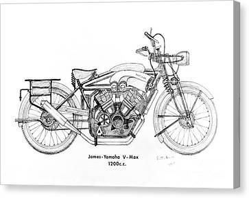James-yamaha Vmax Canvas Print by Stephen Brooks