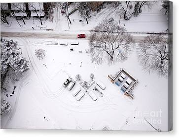 Jan 8 2011 Snow Canvas Print by Charline Xia