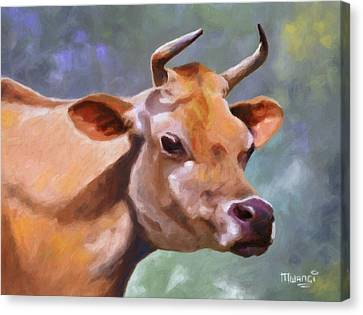 Jane Canvas Print by Anthony Mwangi