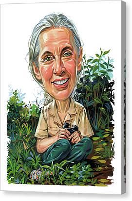Jane Goodall Canvas Print by Art