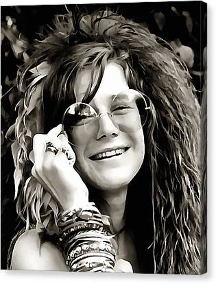 Janis Canvas Print by Dan Sproul